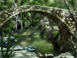 Landscape Lost Buddha by Dinoforce