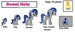 Sweet Note Oficial Reference Sheet by Forever-Frost