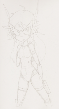 Android X2 rough sketch by ShellShotty