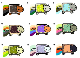 Nyan cat free adoptables CLOSED by koshechkazlatovlaska