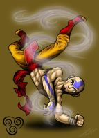 Breakbenders - Aang by Wolfish-Dreams