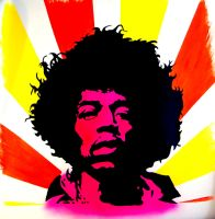 Jimi Hendrix painting by dx