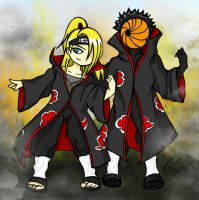 Deidara + Tobi - Real Bang by agrias