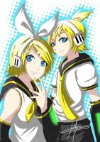 Kagamine Twins by kevzter