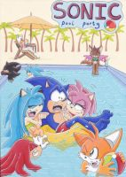 Sonic Pool Party by AzumiAngel