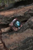 Copper labradorite Thistle lake ring by Egarimea