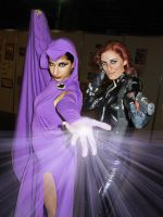 Raven y BLack Widow by quinzelle