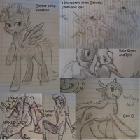 School Doodles by ive-moved-bitches