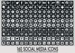 160 Social Media Icons by FakeFebruary