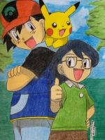 Ash Pika and Max by Ash-Misty-Pikachu