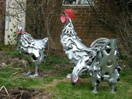 Chickens by HubcapCreatures
