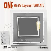 One Mini Art LayeredTemplate by Diamara