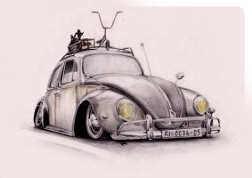 VW beetle rat by RibaDesign