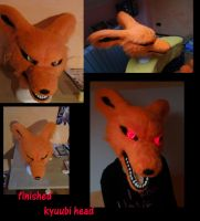 finished kyuubi quadsuit head by orange-kitsunee