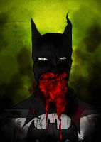 Zombie Batman by tylernewcomb