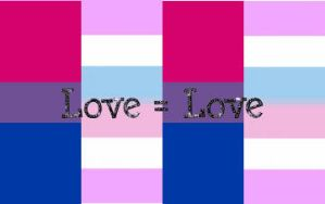Love Equals Love: Bisexual-Bigendered Pride Flag by Lucy199