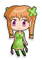 Mini- chibi Clover by izka197