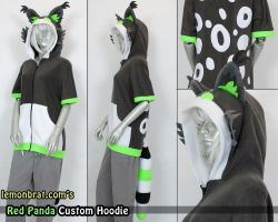 Red Panda Custom Hoodie by lemonbrat