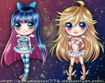 Panty And Stocking Chibis by SakuraChan776