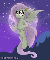 Flutterbat! (As Seen on EQD) by drawponies