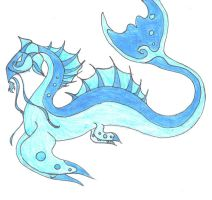 Water Dragon by SymphonyOfFireAndIce