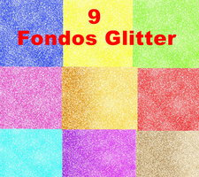 Pack: 9 Fondos de Glitter by Cataa-Editions