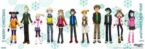 PKMN V - Full Group (WINTER CASUAL VERSION) by Blue90
