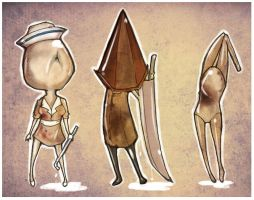 Silent Hill Chibis by Lochi