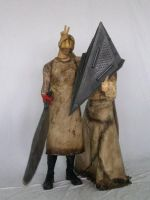 Valtiel and Pyramid Head by SHINOB