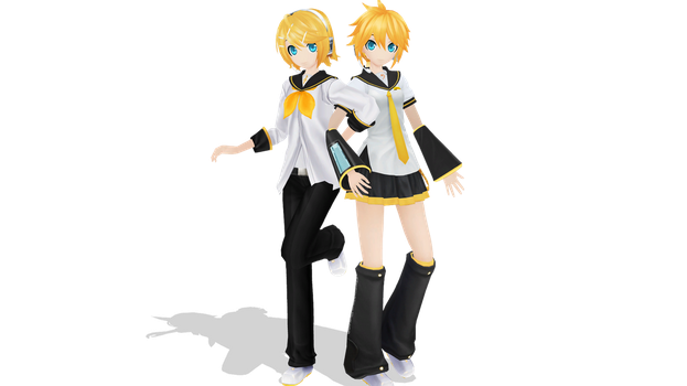 MMD: Project Diva Rinto and Lenka by Oyukii