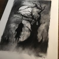 Charcoal drawing.  by anythingbuthumans