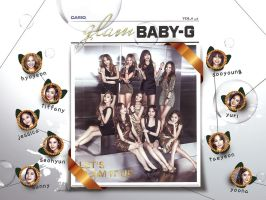 Snsd:Glam Baby G New Promotional wallpaper by Jover-Design