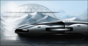 Car on ice by Vincent-Montreuil