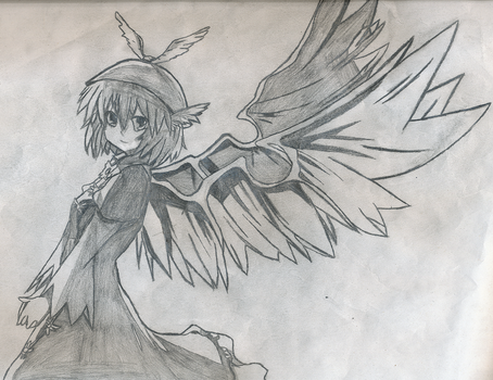 Touhou Trace #1: Mystia Lorelei by Semi-SuperSonic