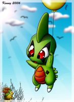 Larvitar_floating by Kenny21