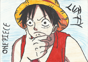 Monkey D. Luffy by bloodplusrocks