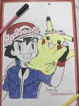 Ash and Pikachu~ Flower Crowns by TheKalosQueenSerena