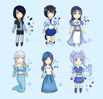 Adoptables Set 1 Cool Colors (CLOSED) by Juliana1121