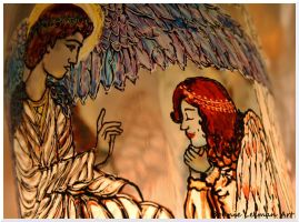 Angels Candle Holder by Bonniemarie