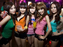 5 Asians Girl by sidneymadmax