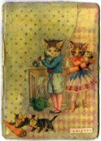 Cats with Pets ATC by OllieP