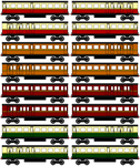 Railway Series Express Coaches sprites by sodormatchmaker