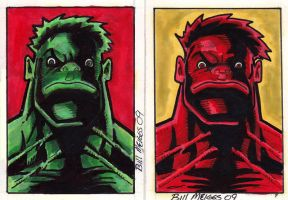 Hulk x2 by billmeiggs