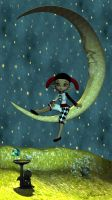 In the moon by mininessie66