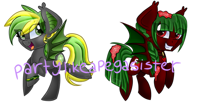 PRICE REDUCED [1/2 OPEN] MLP FRUIT BAT ADOPTS by partylikeapegasister