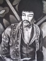 Jimi Hendrix by Fruksion