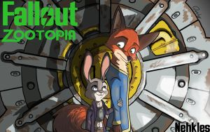 Fallout Zootopia Fanfic Cover by Quirky-Middle-Child
