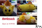 Applesock by CatScratchPaper