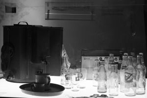 Old Coffee Maker And bottles by RaynFudge