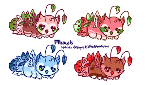 :Mhowls Adoptables(closed): by PrePAWSterous